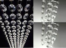 20FT Clear Christmas Acrylic Crystal Xmas Tree Decorations Ball Ornament Garland