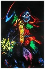DEATH RIDER - SKELETON BLACKLIGHT POSTER - 24X36 FLOCKED 1907