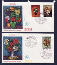 MONACO   enveloppe 1er jour   concours de bouquets        1972