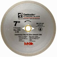 """MK Diamond, 167029, 7"""", Contractor Continuous Rim Wet Cutting Tile Saw Blade"""