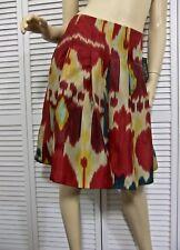 b7543cd28a Ralph Lauren Petite 4 Skirt Cranberry Teal Ochre Tan Pleated 100 Silk