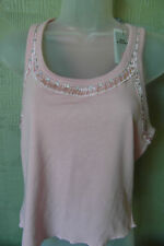 Per Una Top Size 14  Pink Sequinned 100% Cotton Brand New With Tags