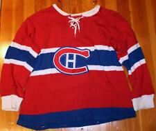 Vintage 1960's Montreal Canadiens Adult Sized Knit Hockey Sweater Jersey!
