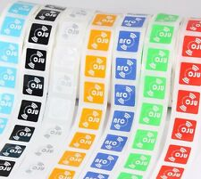 14 X NFC Tags NTAG213 Chip Coloured Oblong Stickers – Samsung Android Nokia LG