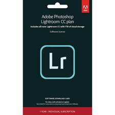 Adobe - Photoshop Lightroom CC - 1 Year Individual Subscription - Mac, Windows