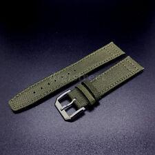 21mm vert toile bracelet en cuir bande +18mm boucle pour IWC pilote portugais watch
