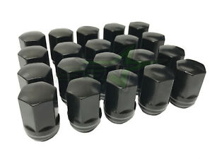 "24pc 2019 Ram 1500 Black OE Style Replacement Lug Nuts 14x1.5 - 1.5"" Inch Tall"