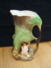 """VINTAGE WITHERNSEA EASTGATE POTTERY FAUNA RABBIT JUG OR VASE APPROX. 8"""" TALL"""
