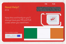 NEW, Eir, IRISH, PREPAID SIM card. NANO, MICRO, STANDARD or nano size. Ireland.