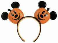 NWT Disney Parks Jack O Lantern Pumpkin Minnie Mickey Mouse Ear Headband