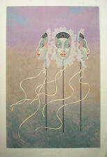 "Mark Van Epps ""Masquerade""  Hand Drawn, Signed, Original Fine Art Lithograph"