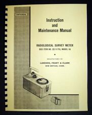 CD V-715 Model 1A Radiological Survey Meter Manual
