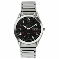 Seiko Men's SNE179 Solar Expansion Classic Watch NEW WITH TAGS fast post