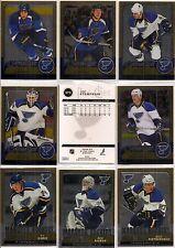 2008-09 OPC O-Pee Chee Metal St. Louis Blues Complete Team Set (26)