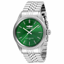 Invicta Men's Watch Specialty Quartz Green Dial Silver Tone Bracelet 29374