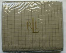 NEW Ralph Lauren Vintage Explorer Windowpane Check Queen Flat Sheet NIP