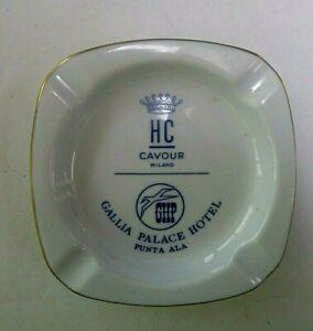 Vintage Ashtray Hotel Cavour HC Milano Italy Gallia Palace GHP Punta Ala Ginori