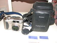 Sony Cyber-shot DSC-S75 Digital Camera w/ Strap Bag & 2 Memory Sticks Tested