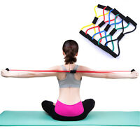 Yoga Bands 8-Type Resistance Training Sport Great Muscle  Fitness Equipment Rope