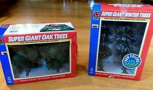 NEW Life-Like Trains Super Giant Winter Trees 1970 & Super Giant Oak Trees 1052