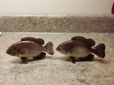 Rock Bass Fish Salt & Pepper Shaker Set Ceramic Japan