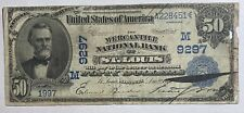 1902 $50 Mercantile Bank of St. Louis, MO Large Size National