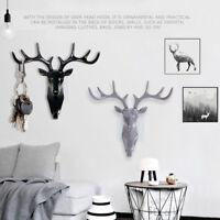 Deer Antlers Wall Hook Animal Hanger Holder Coat Hat Key Hanging Rack Hook Decor