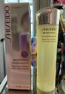 SHISEIDO Benefiance WrinkleResist24 Balancing Softener SEALED 5oz/150ml, BNIB