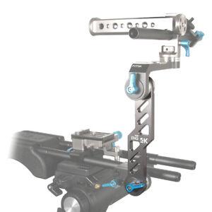FOTGA ARRI Teeth Type Lock Bracket Extension Arm for 15mm Rod Support Rig System