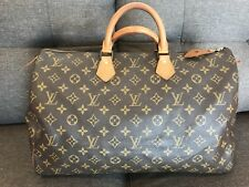 Authentic Louis Vuitton Speedy 40 Monogram Bag Tote Purse VI882