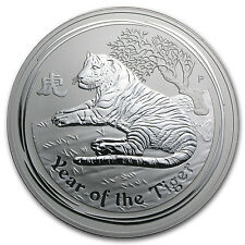 2010 Australia 1 kilo Silver Year of the Tiger BU (Series II) - SKU #54867