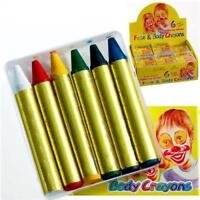 Face & Body Painting Crayon Set - 6 Colour Kit - Sticks Party Wedding/Kids