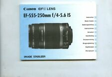 Canon EF-S550250mm EFS lens Instructions