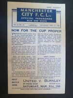 1945 WAR CUP NORTH: MANCHESTER CITY v CREW ALEXANDRA - 24th March