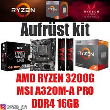 PC Bundle Kit Set ❤ AMD Ryzen 3200G + Grafik ✔ MSI A320 Mainboard ✔ DDR4 16GB ✔