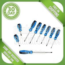 9PC HEAVY DUTY SET OF SCREWDRIVERS FLAT HEAD SLOTTED PHILLIPS SOFT GRIP HANDLES
