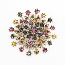 Betsey Johnson Women's Crystal Rhinestone Flower Charm Brooch Pin Jewelry Gift