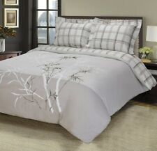 Full/Queen Elmwood 100% Cotton Nature Embroidery Duvet Cover Set