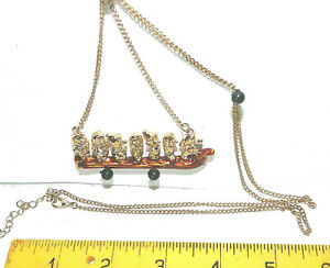 DISNEY COUTURE SEVEN DWARFS on GOLD PLATED CHAIN