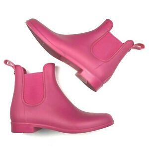 Sam Edelman Ankle Rain Boots womens 8 Pink Waterproof Chealsea Booties Tinsley
