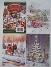 """Hunkydory 24 mixed Little Book of Card Toppers """"Seasons Greetings"""" see pictures"""