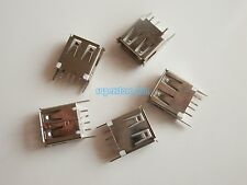 10X USB 2.0 Type A Female 4 Pin 180° DIP PCB Socket Connector 2 Legs