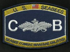 United States SEABEES CB Navy Rate Military Patch SEABEE COMBAT WARFARE ENLISTED