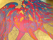 """Duke"" by Guillaume Azoulay, 24 K Gold Leaf Silkscreen Serigraph"