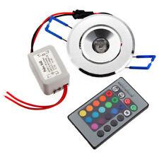 3X 3W LED Einbaustrahler Einbauleuchte Deckenlampe Decken Spot RGB mit Remote GF