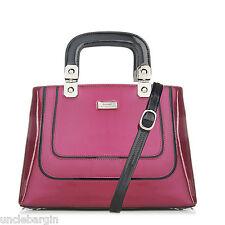 Serenade Violet Pearlescent Print Leather Handbag (SH33-7168)