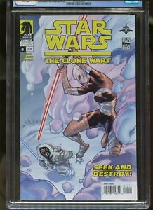 STAR WARS: THE CLONE WARS #8 CGC GRADED 9.4 WHITE PAGES 2009 #3725067054