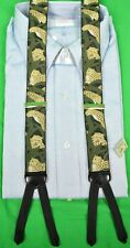 Trafalgar Leopard Print Silk Braces Made in England for Paul Stuart New w/ Tag