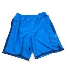 NIKE Blue Swim Trunks Men's AQUA Blue Swimsuit Size XL 1X Swimming Shorts Surf