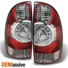 09-13 Toyota Tacoma Pickup Red Clear LED Tail Lights Brake Lamps Replacement